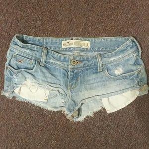 Hollister Distressed Mini Jean Shorts - Size 5